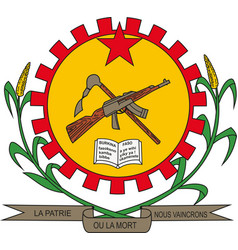 burkina faso national army emblem vector image
