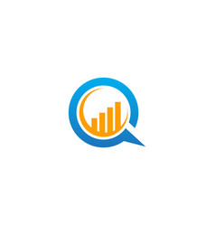 Business graph economy talk bubble logo vector