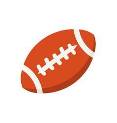 Cartoon colorful american football ball vector