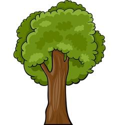 cartoon deciduous tree vector image