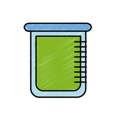 Chemical beaker icon vector