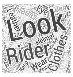 Clothes Make The Rider Word Cloud Concept vector