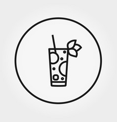 Cocktail universal icon editable thin vector