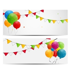 Color Glossy Balloons Background vector image
