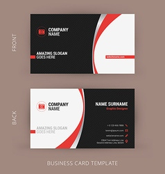 Creative and Clean Business Card Template vector