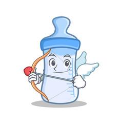 Cupid baby bottle character cartoon vector