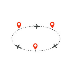 Cyclic plane route to and from destinations vector