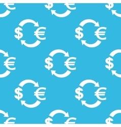 Dollar euro exchange pattern vector