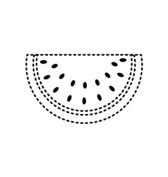 Dotted shape delicious watermelon organic fruit vector