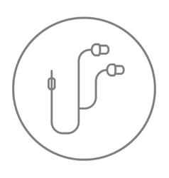 Earphone line icon vector image