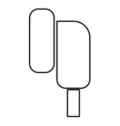 Eearphone plug icon black color flat style simple vector