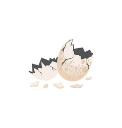egg dinosaur cracked flat vector image