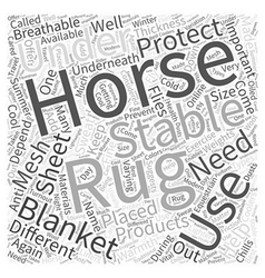 Equestrian products Word Cloud Concept vector