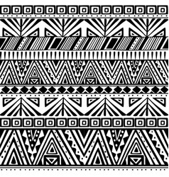 Ethnic primitive seamless pattern vector