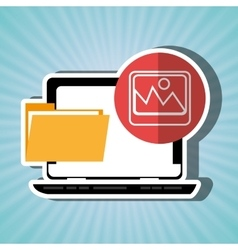 File transfer in social networks isolated icon vector