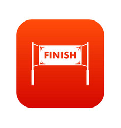 finish line gates icon digital red vector image
