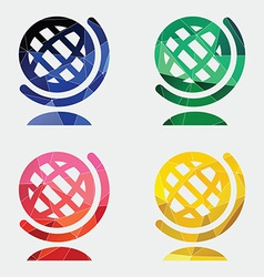 globe icon Abstract Triangle vector image