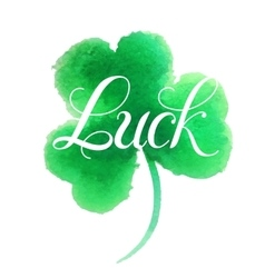 Good luck four leaf clover vector