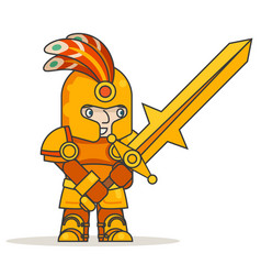 greatsword two-handed sword warrior warlord knight vector image