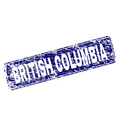 Grunge british columbia framed rounded rectangle vector