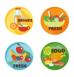 Healthy eating flat icon vector