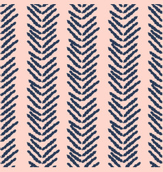 herringbone blue and pink hand drawn simple vector image