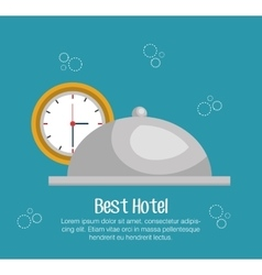 Hotel bell isolated icon vector