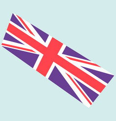 image of the british flag vector image