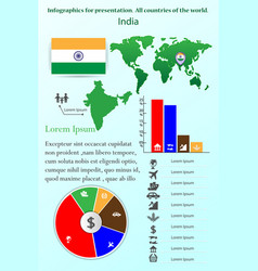 india infographics for presentation all vector image