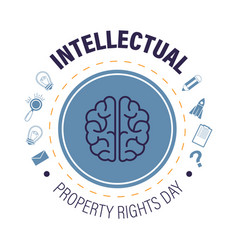 Intellectual property rights day isolated icon vector