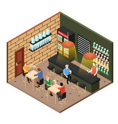isometric beer shop vector image