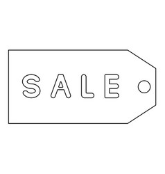 label sale the black color icon vector image