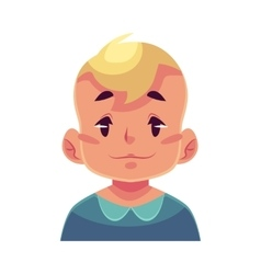 Little boy face neutral facial expression vector