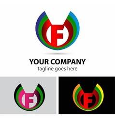 Logo letter F company design template vector