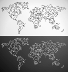 Low Poly World Map Outline vector