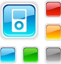 Media button vector image