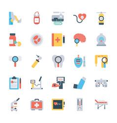 Medical checkup flat icons vector