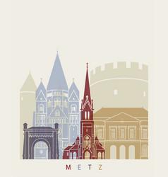 Metz skyline poster vector