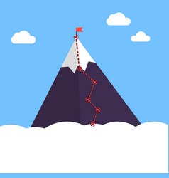 Mountain infographic peak steps vector