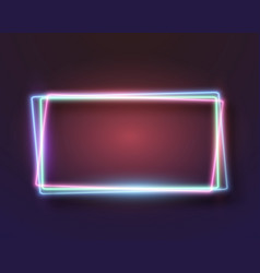 Neon frame icon vector