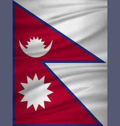 nepal flag flag of nepal blowig in the wind eps vector image