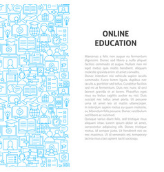 online education line pattern concept vector image