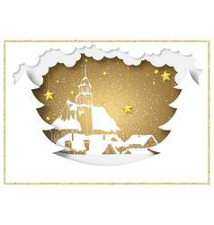paper style christmas background vector image