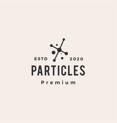 particle molecule hipster vintage logo icon vector image