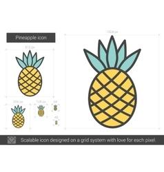 Pineapple line icon vector