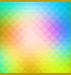 Pink green blue rows of triangles background vector