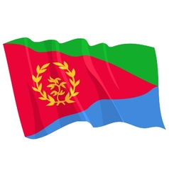 Political waving flag of eritrea vector