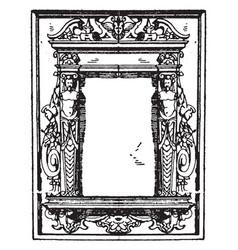 Pulpit frame was a german frame vintage engraving vector