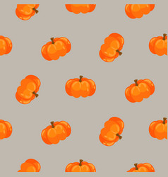 pumpkin orange seamless pattern vector image