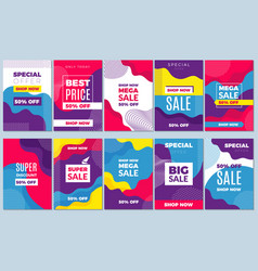 sale offers flyer adverizing banners template vector image